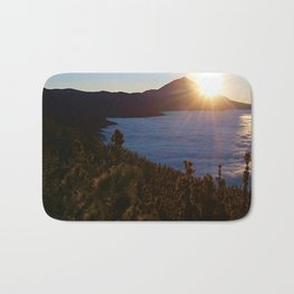 Sunset Canary Islands forest and Volcano Teide in Tenerife Bath Mat