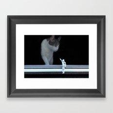 Cat in the Window Framed Art Print