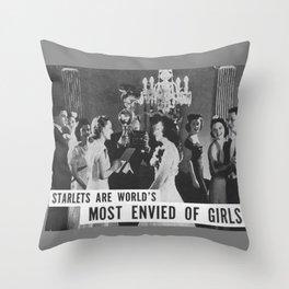 Starlets Throw Pillow