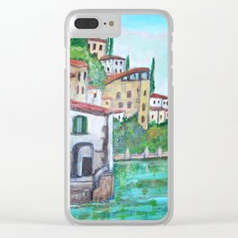 Nesso, Lake Como Clear iPhone Case