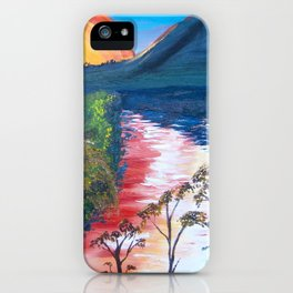 Brisbane River and Mt Crosby at Sunset iPhone Case
