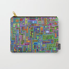 Tiled City Carry-All Pouch