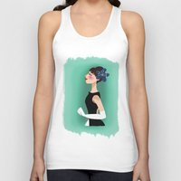 audrey hepburn Tank Tops featuring Audrey Hepburn by carotoki art and love