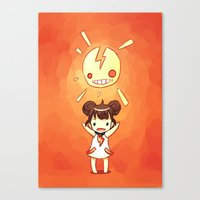 always sunny Canvas Prints featuring Sunny by Freeminds