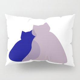 hugging cats - purrfect cat art for cat lovers Pillow Sham