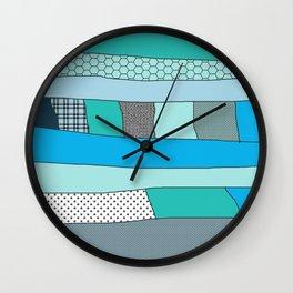 Turqoise noise Wall Clock