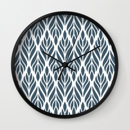 Floral Leaf Pattern III Wall Clock