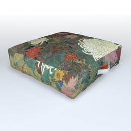 flower【Japanese painting】 Outdoor Floor Cushion