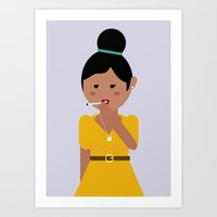 60s Art Prints featuring 60s woman by Laura Moreau