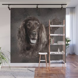 Irish Setter Dogs Digital Art Wall Mural