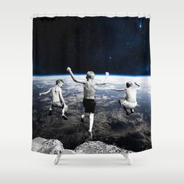 Free Faling Shower Curtain