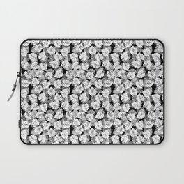 Black and White Monstera Tropical Leaf Laptop Sleeve