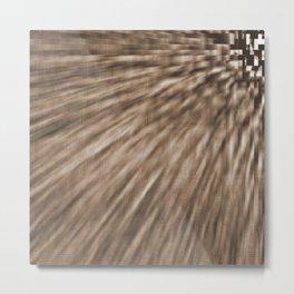 Taupe Pixel Wind Metal Print