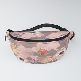 Rose Gold Pink Camouflage Floral Flower Camo Fanny Pack