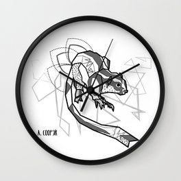 Geometric Striped Possum Wall Clock