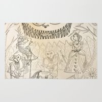 alice wonderland Area & Throw Rugs featuring Wonderland  by Jgarciat