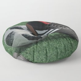Football with soccer shoes #sports #society6 Floor Pillow