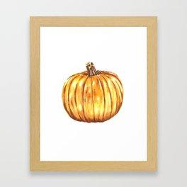 Halloween Pumpkin Watercolor Pattern Framed Art Print