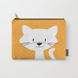 Yellow white cat Carry-All Pouch