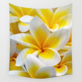 Frangipani halo of flowers Wall Tapestry
