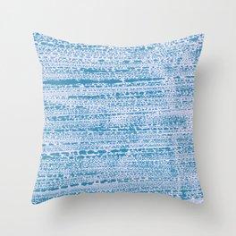 Blue Water Aqua Splash Beading Bouy Throw Pillow