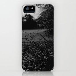 AUTUMN TREE - BLACK & WHITE iPhone Case