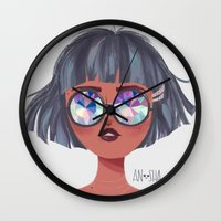 kaleidoscope Wall Clocks featuring Kaleidoscope by Anoosha Syed