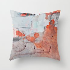 grey red 3 Throw Pillow