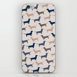 Elegant Dachshunds Pattern iPhone Skin