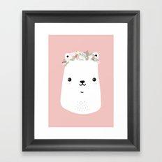 Flower bear Framed Art Print