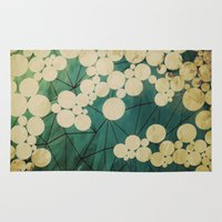 spring Area & Throw Rugs featuring spring by Laura Graves