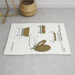 Toilet Seat and Cover Patent Rug