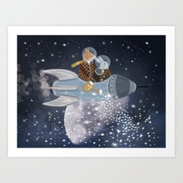 creating stars Art Print
