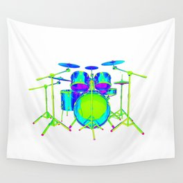 Colorful Drum Kit Wall Tapestry