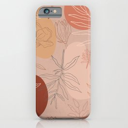Pink Abstract Desert Pattern iPhone Case