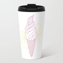 lined icecreamcone Travel Mug