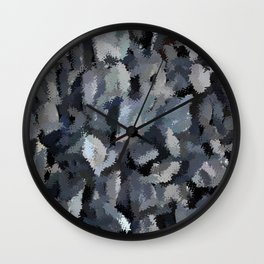 Shades of Gray Tapestry Wall Clock