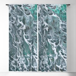 Waves crashing Blackout Curtain