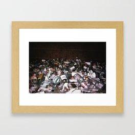 tears over beers Framed Art Print