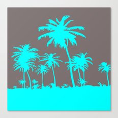 Turquoise Palm Trees Canvas Print
