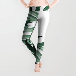 Palm Leaves Tropical Green Vibes #3 #tropical #decor #art #society6 Leggings