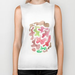 171122 Watercolour Abstract 6   abstract shapes art design colour  shapes art abstract Biker Tank