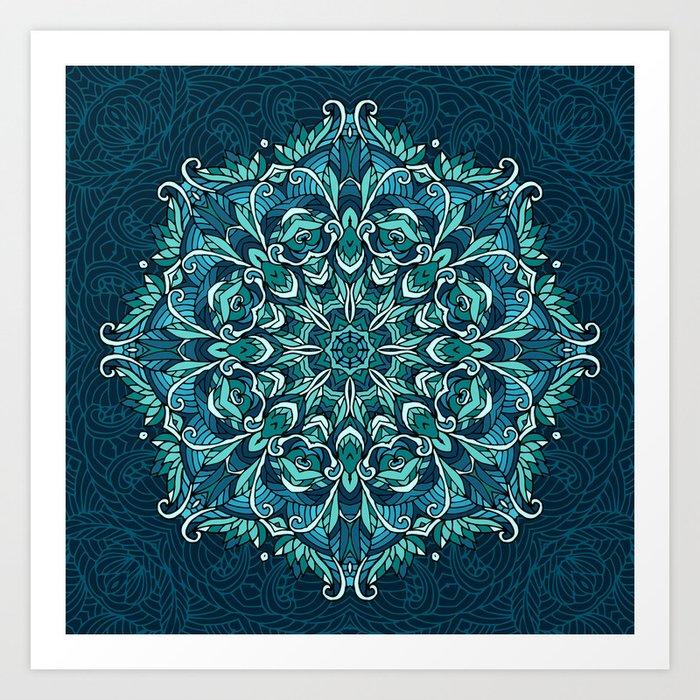 Frozen mandala Art Print