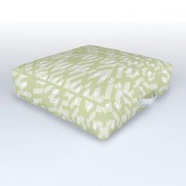 warped bandanna. pale sage Outdoor Floor Cushion