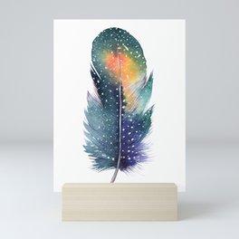 Watercolor feather Mini Art Print
