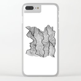 Contour Lines Clear iPhone Case