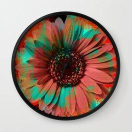 Lysergic Flower Wall Clock