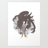 alien Art Prints featuring Alien by Florey