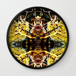 Chaos Tree Kaleidoscope 4 Wall Clock
