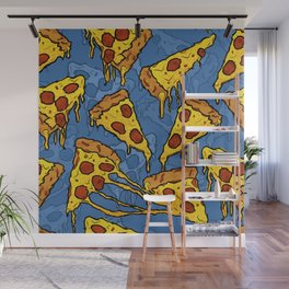 Gooey Pizza Slices Wall Mural